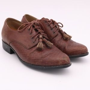 Ariat Brown Leather Tassel Shoes